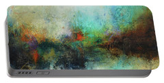 Contemporary Abstract Art Painting Portable Battery Charger