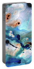 Portable Battery Charger featuring the painting Contemporary Abstract Art - The Flood - Sharon Cummings by Sharon Cummings
