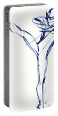 Contemporary Ballet Dancer, Blue Portable Battery Charger