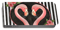 Contemporary Flamingos 1 Portable Battery Charger
