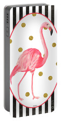 Contemporary Flamingos 2 Portable Battery Charger