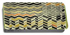 Portable Battery Charger featuring the digital art Contemporary Kuba Cloth by Vagabond Folk Art - Virginia Vivier