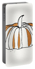 Contemporary Pumpkin- Art By Linda Woods Portable Battery Charger