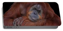 Contented Orangutan Portable Battery Charger