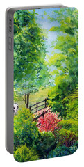 Contentment Portable Battery Charger by Nancy Cupp