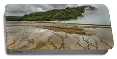 Portable Battery Charger featuring the photograph Contrasts At Midway Geyser Basin by Sue Smith