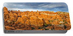Portable Battery Charger featuring the photograph Contrasts In Arches National Park by Sue Smith