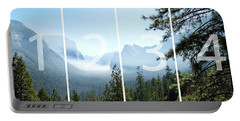 Controlled Burn Of Yosemite Panoramic Map Portable Battery Charger