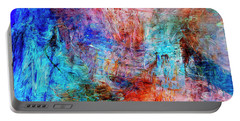 Portable Battery Charger featuring the painting Convergence by Dominic Piperata