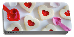 Portable Battery Charger featuring the photograph Cookie Baking Love by Teri Virbickis