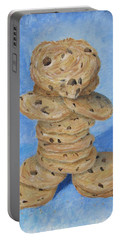 Portable Battery Charger featuring the painting Cookie Monster by Nancy Nale