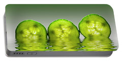 Cool As A Cucumber Slices Portable Battery Charger by David French