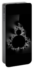 Cool Black And White Mandelbrot Set Portable Battery Charger