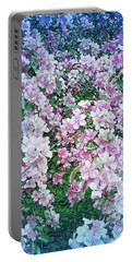 Portable Battery Charger featuring the photograph Cool Blue Beautiful Blossoms by Aimee L Maher Photography and Art Visit ALMGallerydotcom