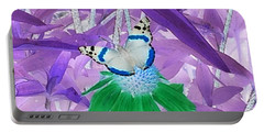 Cool Butterfly In Lavender Leaves Portable Battery Charger