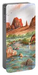 Portable Battery Charger featuring the painting Cool, Cool Water by Marilyn Smith