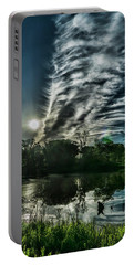 Cool Looking Cloud In The Morning Sun Portable Battery Charger