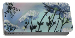 Cool White Spider Mums Portable Battery Charger