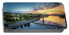 Coolidge Park Sunrise Panoramic Portable Battery Charger