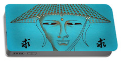 Coolie Buddha -- Stylized Buddha In Hat Portable Battery Charger