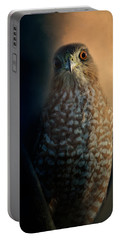 Coopers Hawk At Sunset Portable Battery Charger by Jai Johnson
