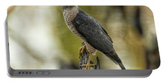 Cooper's Hawk Portable Battery Charger by Geraldine DeBoer