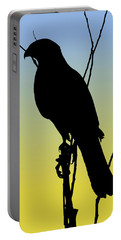 Coopers Hawk Silhouette At Sunrise Portable Battery Charger