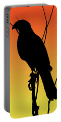 Coopers Hawk Silhouette At Sunset Portable Battery Charger
