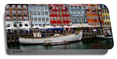 Copenhagen - Denmark Portable Battery Charger by Anthony Dezenzio