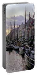 Portable Battery Charger featuring the photograph Copenhagen Quay by Frank DiMarco
