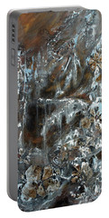 Portable Battery Charger featuring the painting Copper And Mica by Joanne Smoley