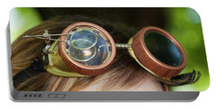 Portable Battery Charger featuring the photograph Copper Goggles - Steampunk by Betty Denise