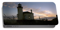 Coquille River Lighthouse At Sunset Portable Battery Charger