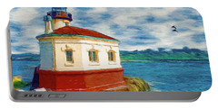 Coquille River Lighthouse Portable Battery Charger by Jeff Kolker