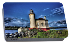 Portable Battery Charger featuring the photograph Coquille River Lighthouse by Thom Zehrfeld