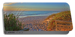 Coquina Beach By H H Photography Of Florida  Portable Battery Charger