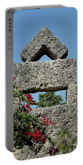 Coral Castle For Love Portable Battery Charger by Shirley Heyn