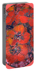 Coral Poppies Portable Battery Charger