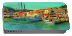Portable Battery Charger featuring the photograph Corfu 14 - Panorama Of Lakka On Paxos by Leigh Kemp