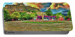 Portable Battery Charger featuring the photograph Corfu 32 - Near The Fortress by Leigh Kemp