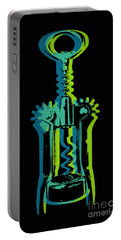 Portable Battery Charger featuring the digital art Corkscrew by Jean luc Comperat