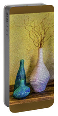 Portable Battery Charger featuring the photograph Corkscrew Willows by Paul Wear