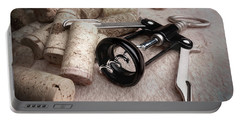 Corkscrew Wine Corks Still Life Portable Battery Charger