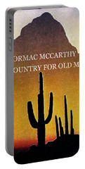 Cormac Mccarthy Poster  Portable Battery Charger