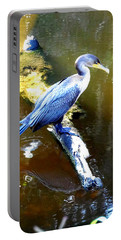 Portable Battery Charger featuring the photograph  Cormorant 000 by Chris Mercer