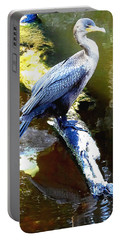 Portable Battery Charger featuring the photograph Cormorant 001a  by Chris Mercer