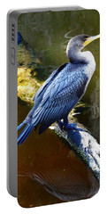 Portable Battery Charger featuring the photograph Cormorant  by Chris Mercer