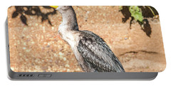Portable Battery Charger featuring the photograph Cormorant On Shore by Paul Freidlund