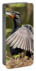 Cormorant Portrait Portable Battery Charger