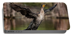 Cormorant Shaking Off Water Portable Battery Charger